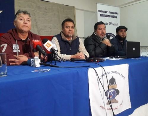 minera-escondida-bhp-trabajadores-sindicato-mediacion