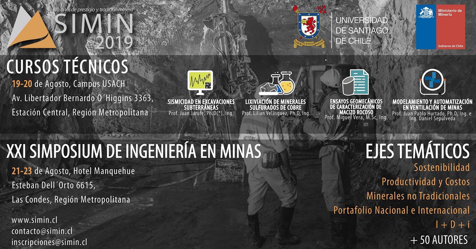 Simposium de Ingeniería en Minas SIMIN 2019