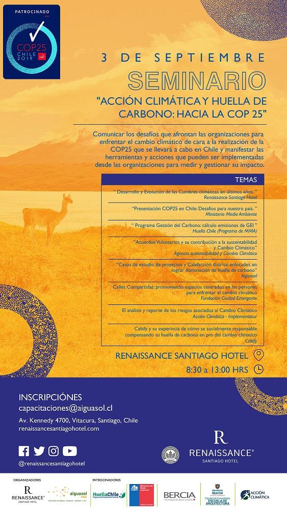 Seminario «Acción climática y huella de carbono: hacia la Cop 25»