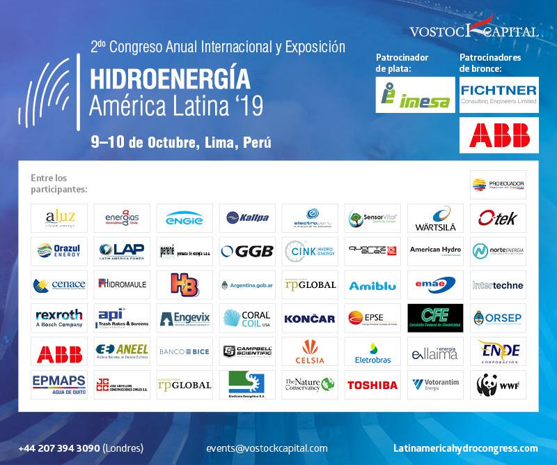 2° Congreso Anual Congreso Internacional Hidroenergía América Latina