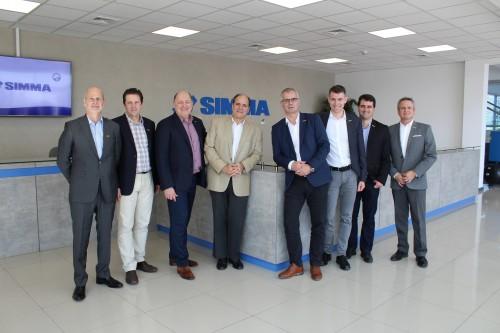 Nuevo CEO de PALFINGER Group visitó oficinas de Simma