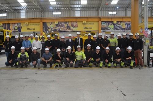 Embajador de Suecia en Chile destaca evolución de las soluciones de electromovilidad y automatización de Epiroc