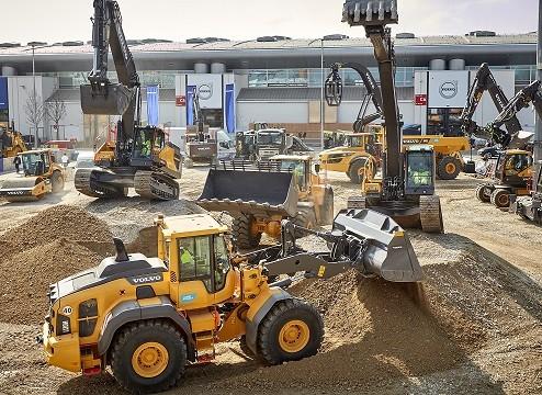 Volvo CE presenta excavadora y pala cargadora eléctricas en la feria de Bauma
