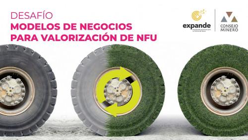 Expande y empresas socias del Consejo Minero buscan modelos de negocios que permitan valorizar los neumáticos fuera de uso