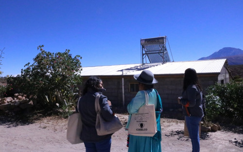 16 familias beneficiadas con termosolares en Toconce