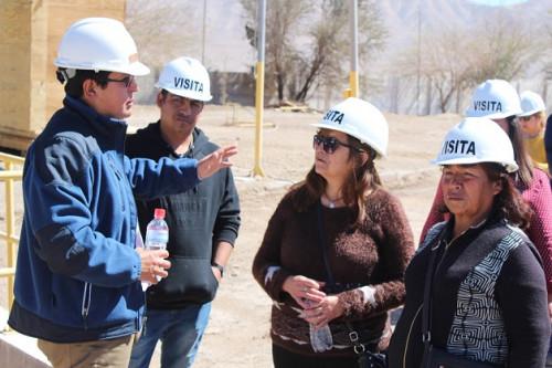 Vecinos de Calama conocen in situ avance del Proyecto «Potenciamiento Planta de Tratamiento de Aguas Servidas Tratacal»