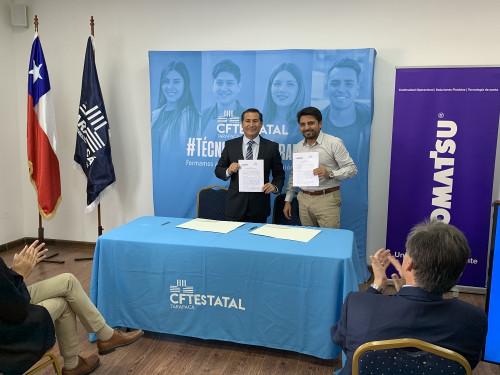 Grupo Komatsu Cummins y CFT Estatal de Tarapacá firman convenio que beneficia formación de futuros técnicos