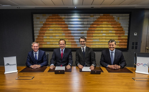 Collahuasi y Enel firman el mayor contrato de energía 100% renovable en Chile