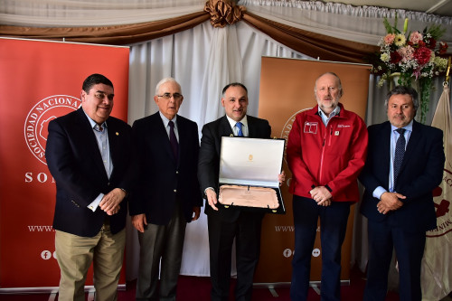 Sonami reconoce con premio «San Lorenzo» a minera Los Pelambres