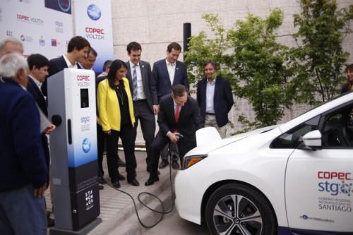Santiago estrena nueva red de carga pública para vehículos eléctricos