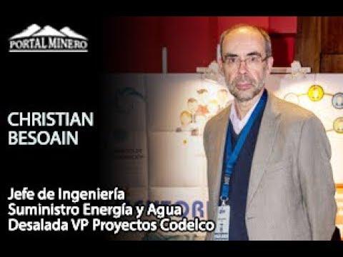 Christian Besoain, Jefe de Ingeniería Suministro Energía y Agua Desalada VP Proyectos Codelco
