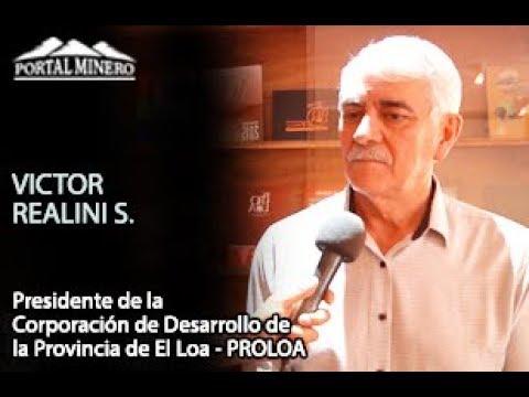 Víctor Realini Saldaña, Presidente de la Corporación de Desarrollo de la Provincia de El Loa – PROLO