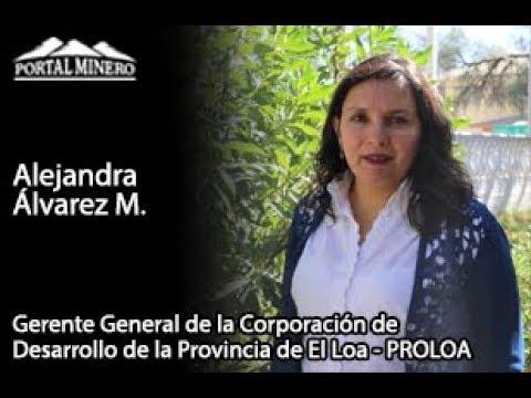 Alejandra Álvarez M., Gerente General de la Corporación de Desarrollo de la Provincia de El Loa – PR