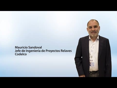 Mauricio Sandoval, Jefe de Ingeniería de Proyectos Relaves, Codelco