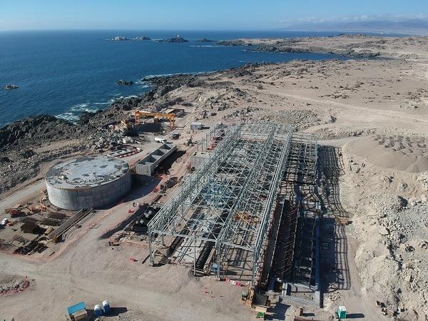 Planta desalinizadora para Atacama tiene sobre 60% de avance