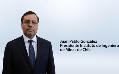 Entrevista Juan Pablo González – presidente Instituto de Ingenieros de Minas de Chile