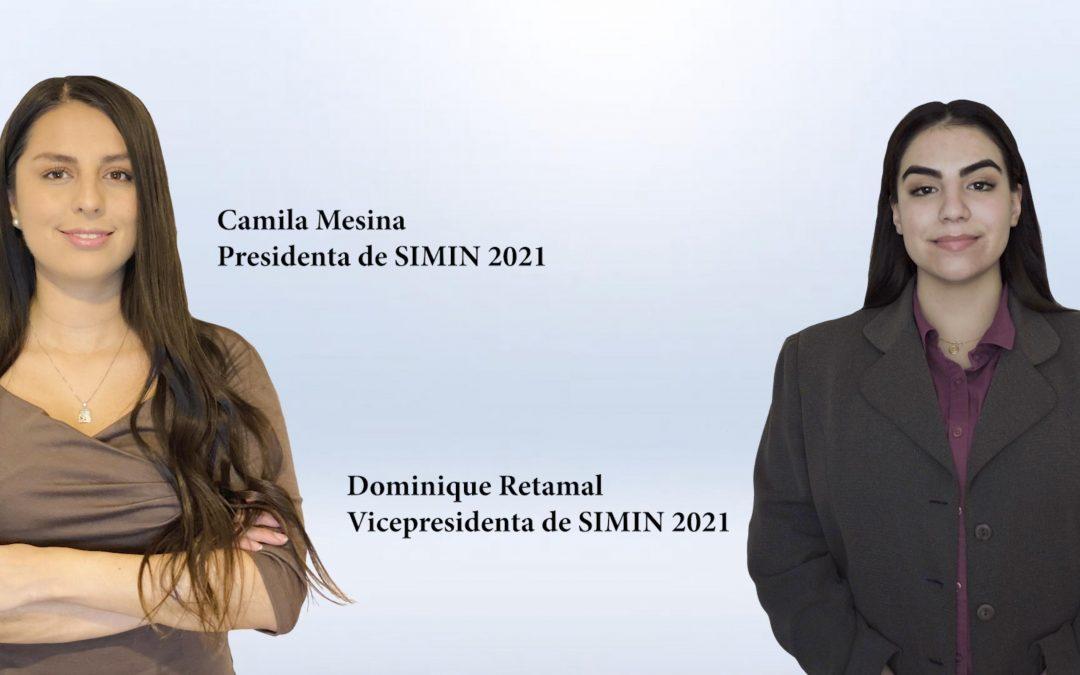 Entrevista Camila Mesina, presidenta y Dominique Retamal, vicepresidenta de SIMIN 2021