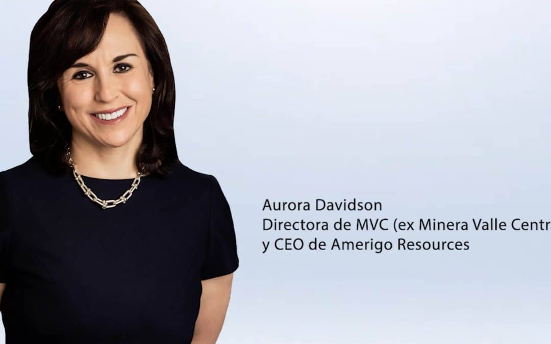 Entrevista Aurora Davidson – Directora de MVC (ex Minera Valle Central) y CEO de Amerigo Resources