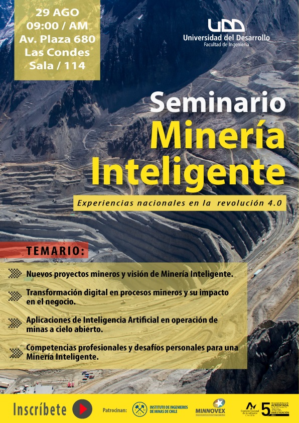 """Seminario """"Minería Inteligente"""" experiencias nacionales en la revolución 4.0"""