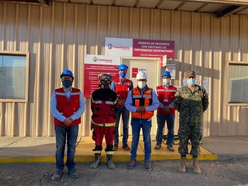 Seremi de Minería visitó policlínico remodelado de minera para atender trabajadores con sospecha de Covid-19