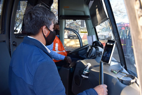 Chuquicamata implementó detectores de temperatura facial en medios de transporte de personal