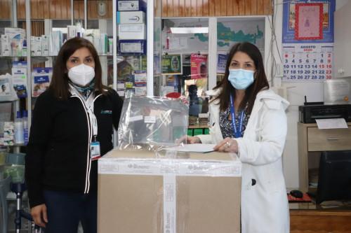 Minera Lumina Copper Chile donó 3.000 escudos faciales al Servicio de Salud Atacama