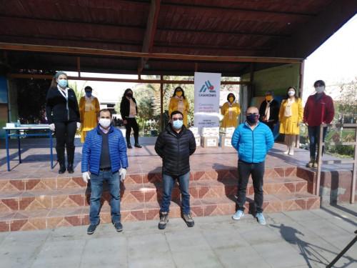 Damas de Amarillo y Casas Tuteladas reciben donación de Minera Lumina Copper Chile y dos de sus sindicatos