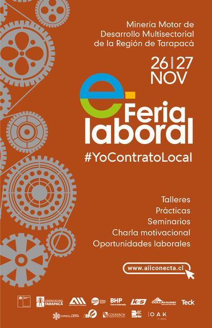 """Feria Laboral """"YoContratoLocal"""" busca recuperar la economía en Tarapacá"""