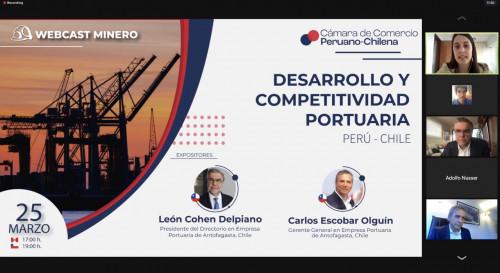 Empresa Portuaria Antofagasta presenta sus proyectos en Webcast  Minero: Desarrollo y Competitividad Portuaria Perú – Chile