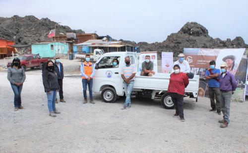 Programa de Minera El Abra para el sector pesquero de Tocopilla entrega vehículo de carga para Sindicato Caleta Los Patos