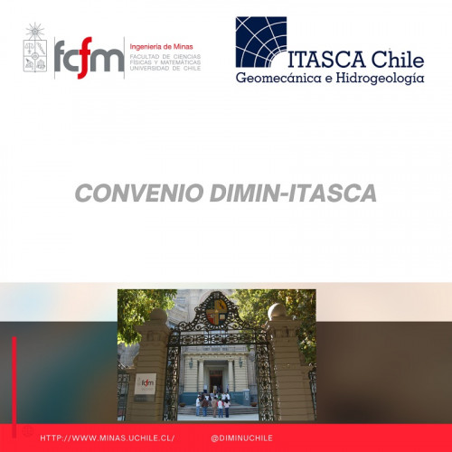 Departamento de Ingeniería de Minas de la U. de Chile suscribe convenio de colaboración con Itasca