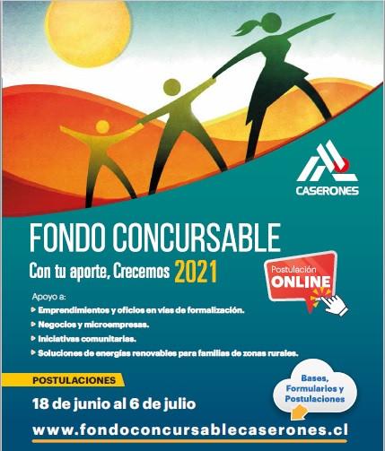"""Abren postulaciones al Fondo Concursable """"Con tu Aporte, Crecemos 2021"""" de Minera Lumina Copper Chile"""