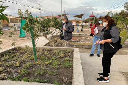 Recuperan dos plazas de la villa Ayquina para generar mejores espacios para los vecinos