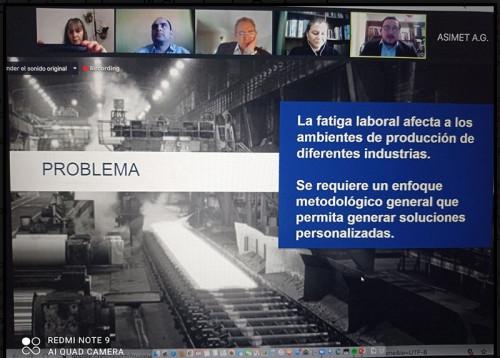 Presentan solución para monitorear la fatiga laboral a empresas miembros de la Asociación de Industrias Metalúrgicas y Metalmecánicas