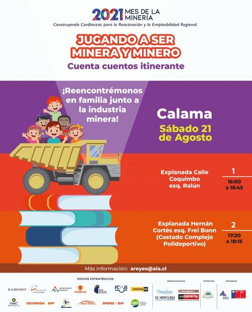 Jugando a ser Minera y Minero llega este fin de semana a Sierra Gorda, Calama y San Pedro de Atacama