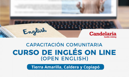 Minera Candelaria invita a postular a curso de inglés gratuito para vecinos y vecinas de la provincia de Copiapó
