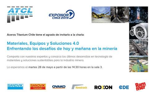 Aceros Titanium Chile invita a charla en el marco de Exponor 2019