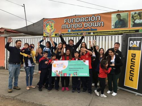 "Finning a través de Fondo Concursable Manos a la Obra"" apoya a Fundación Mundo Down en Antofagasta"