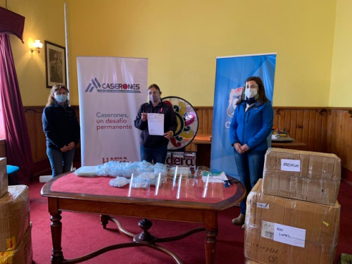 Minera Lumina Copper Chile donó más de 6.200 escudos faciales a la Municipalidad de Caldera