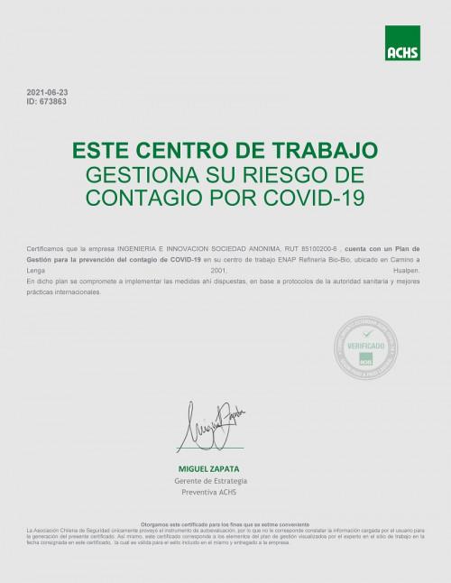 Metaproject obtiene certificación gestión Covid 2021