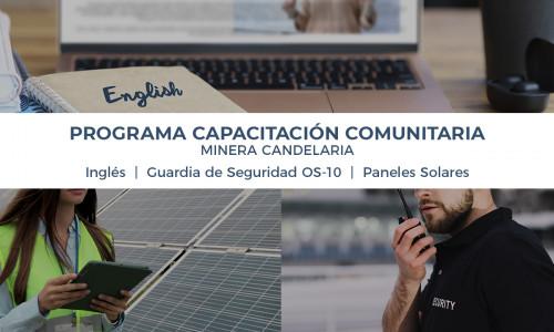 270 vecinos y vecinas de la provincia de Copiapó participarán en Programa de Capacitación Comunitaria de Minera Candelaria