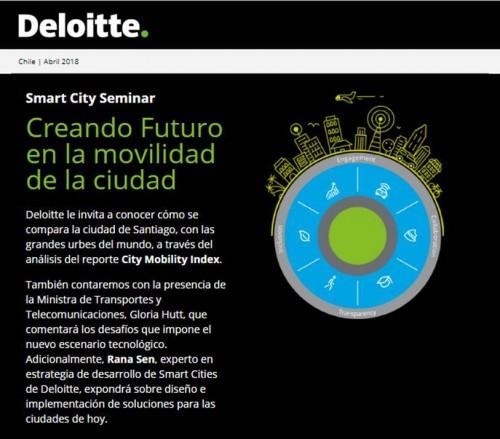 "Deloitte invita al Smart City Seminar Creando Futuro para la movilidad"""