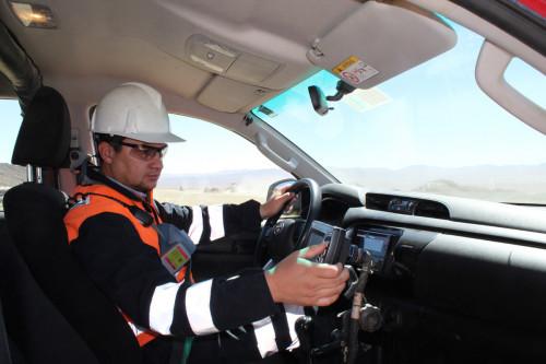 Sistema GPS optimiza monitoreo en proceso de lixiviación de Codelco Gabriela Mistral