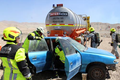 Simulacro pone a prueba a equipos de emergencia de Codelco y la comuna de Calama