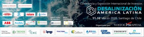 """Más de 30 proyectos de inversión serán presentados en la 2da Conferencia y Exposición Internacional de Inversión """"Desalinización América Latina"""""""