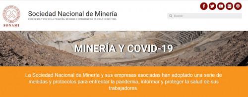 Sonami crea mini-sitio web sobre minería y COVID-19