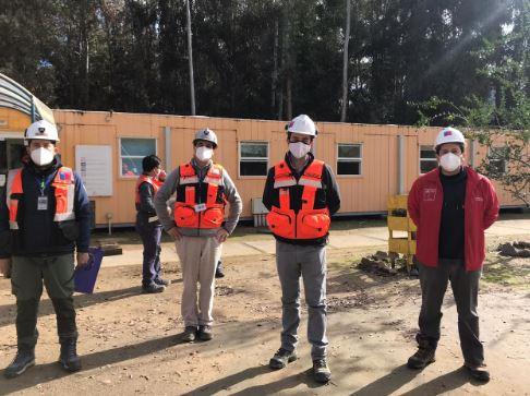 Autoridades de Sernageomin fiscalizan temas de seguridad minera y medidas sanitarias en el Embalse Carén