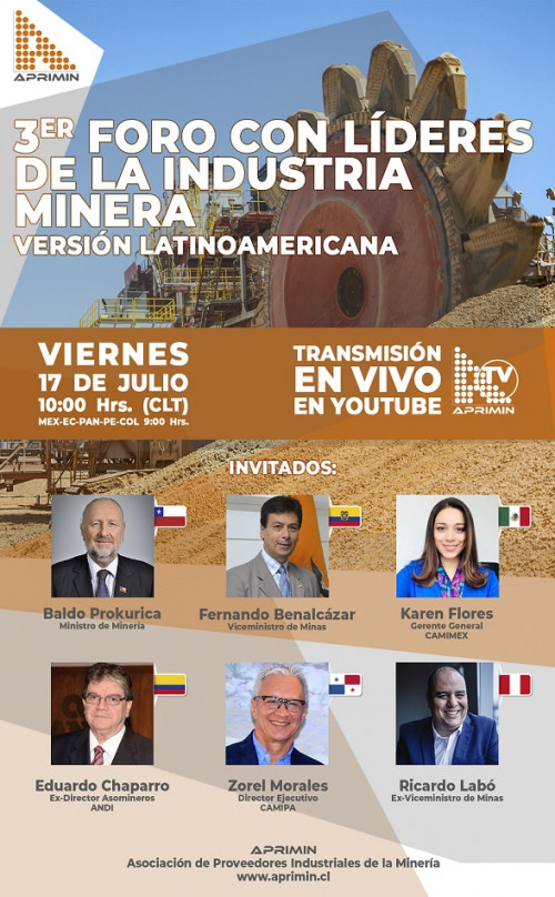 Aprimin realizará 3er Foro con líderes de la industria minera, versión Latinoamericana