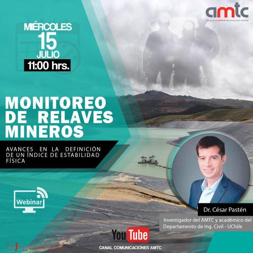 """AMTC invita a participar del seminario """"Monitoreo de relaves mineros"""""""