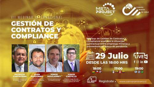"""Cámara Minera de Chile realizará webinar de """"Gestión de Contratos y Compliance"""""""